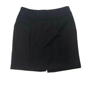 BANANA REPUBLIC Black Wool Blend Skirt 8P